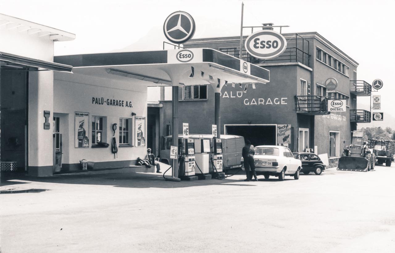 Historisches Bild Garage Pfister