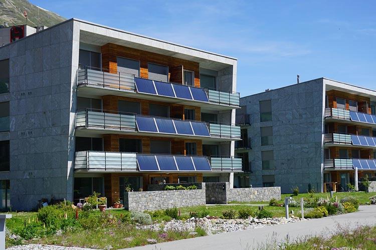 Solartherme Balkongeländer