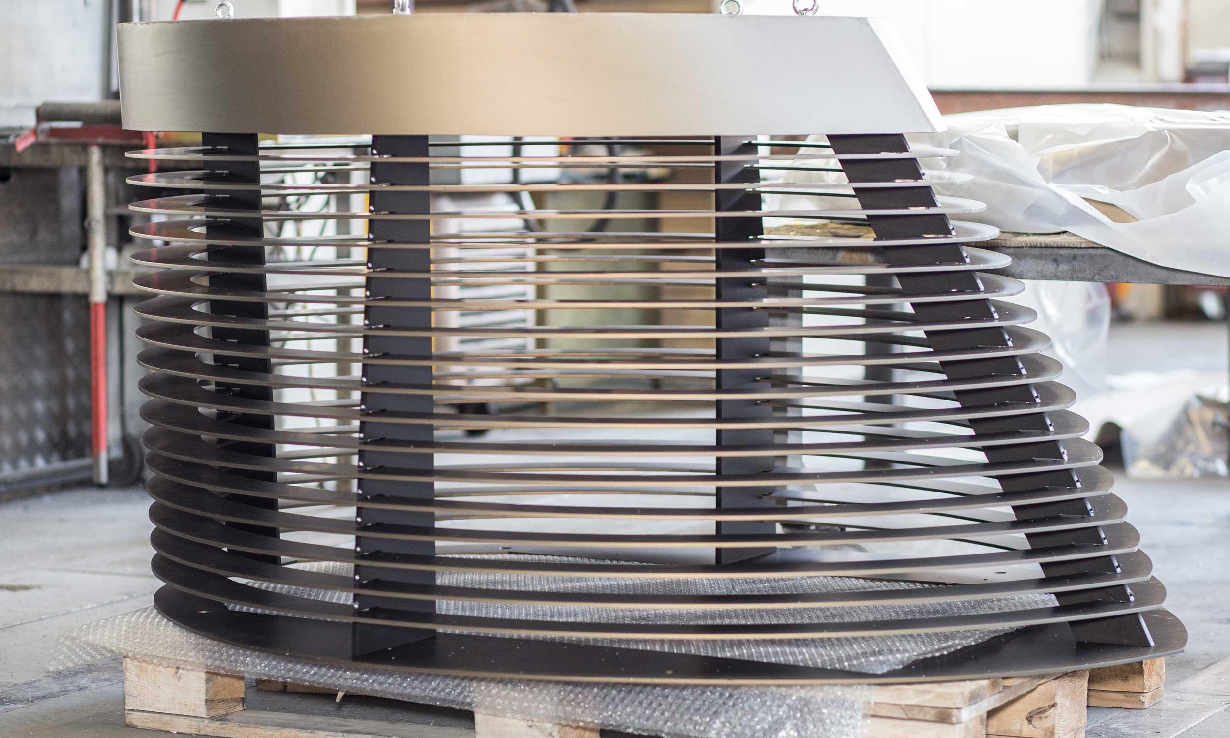 Kaminverkleidung in Aluminium